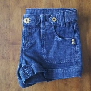 Guess Jean Shorts with Golden Hardware EUC